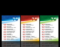 企业7S管理标语展板设计 CDR