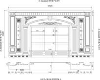 4米8长欧式玉石电视背景墙设计 CAD