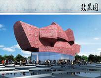 博物馆建筑设计效果图 JPG