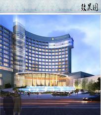 度假酒店主入口水景 JPG