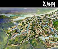 佛山某住宅区概念鸟瞰图 JPG