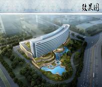 酒店建筑鸟瞰图 JPG
