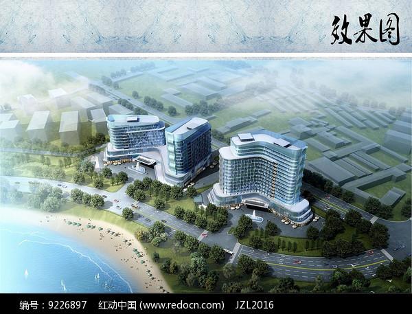 酒店建筑设计鸟瞰图