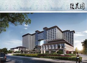 酒店建筑设计透视图