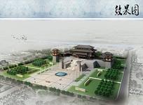 历史纪念馆鸟瞰图