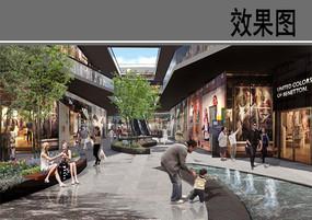 某广场商业空间效果图