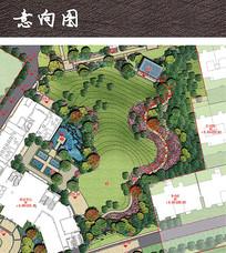 商业公园景观平面分析