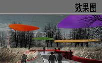 苏州某公园景观禾草园效果图