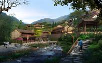 乡村住宅景观效果图