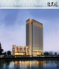 星级宾馆建筑效果图 JPG