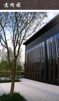 新中式别墅庭院建筑景观 JPG