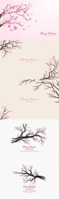 樱花背景图案设计