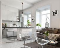 北欧风格住宅设计—白雪花 JPG