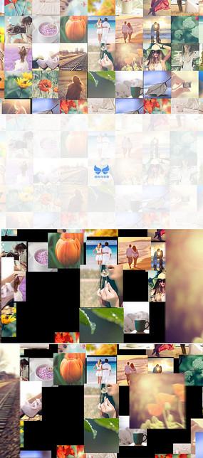 多图片汇聚照片墙标志展示模板