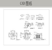 方形石灯CAD dwg