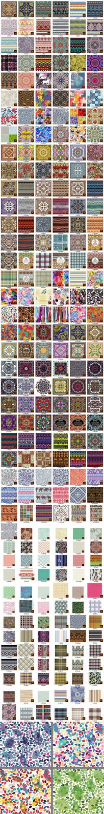 服装印花地毯方巾地砖矢量图案