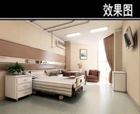 骨科医院单人病房效果图