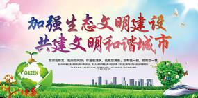 环保共建文明城市宣传展板
