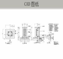 景观亭装饰柱CAD