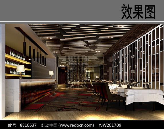 某火锅餐厅吧台效果图图片
