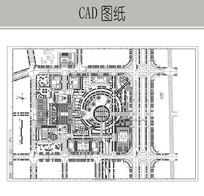 某市行政中心规划总平面图