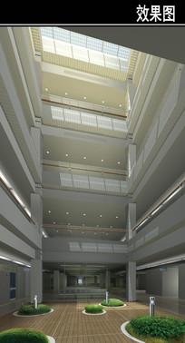 某医院三层中庭效果图