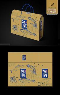 牛皮纸海鲜包装设计