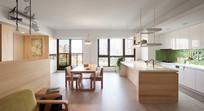 日式风格开放式厨房装修 JPG