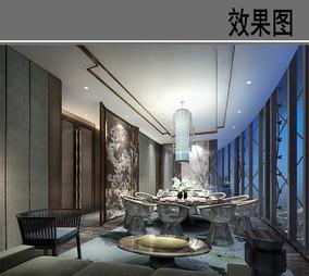 上海某酒店中餐包房效果图