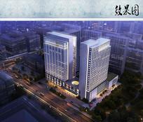 商务酒店设计鸟瞰图 JPG