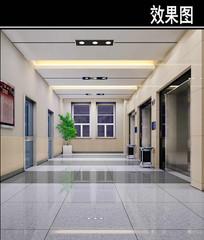 沈阳某医院电梯厅效果图