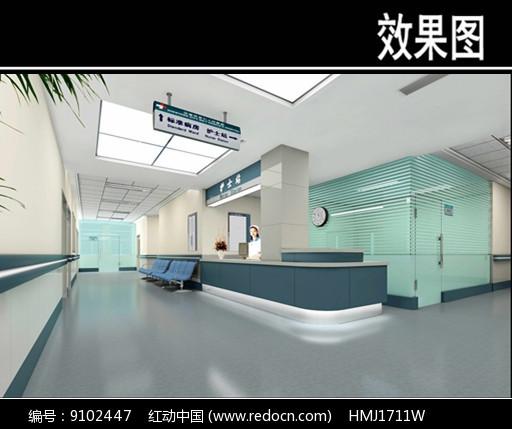 沈阳某医院护士站效果图图片