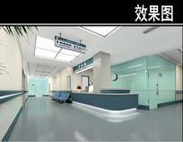 沈阳某医院护士站效果图