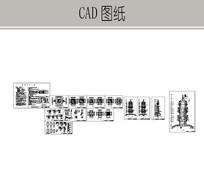 塔楼建筑详图 dwg
