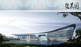 未来酒店建筑设计效果图