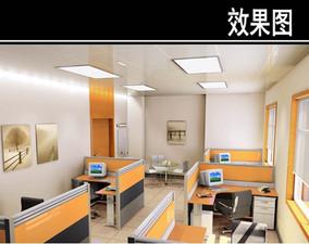 现代风医院办公室效果图 JPG