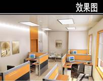 现代风医院办公室效果图