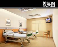 现代风医院病房效果图