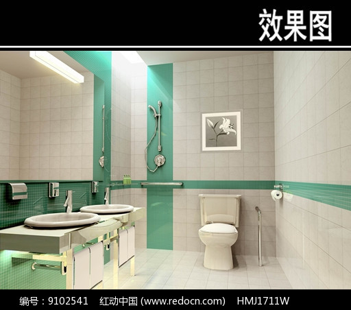现代风医院卫生间效果图图片