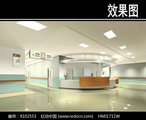 医院护士站效果图图片