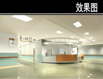 医院护士站效果图