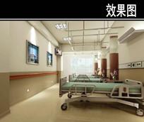 医院普通病房效果图
