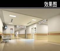 医院走廊效果图