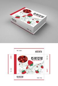 有机草莓包装盒包装设计