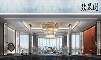 酒店大堂设计效果图 JPG