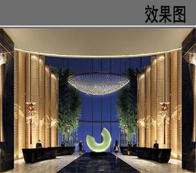 上海某酒店大堂效果图