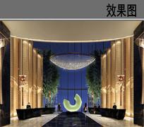 上海某酒店大堂效果图 JPG