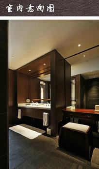 现代宾馆卫浴化妆间
