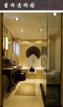 现代酒店卫浴间装修