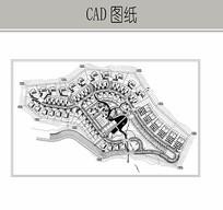 小区围合式景观设计图纸 CAD